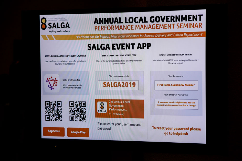 One2One At SALGA Annual Local Government Performance Seminar